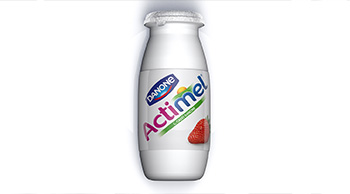 3D actimel bottle